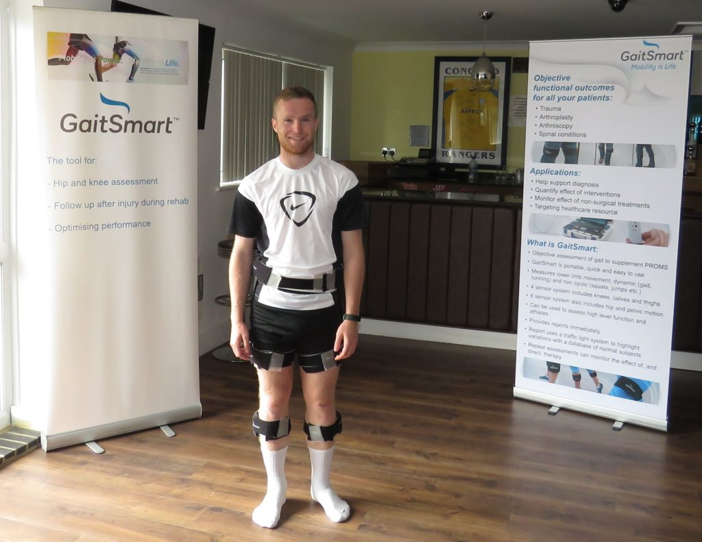 Tom Stephen about to have his gait analysed
