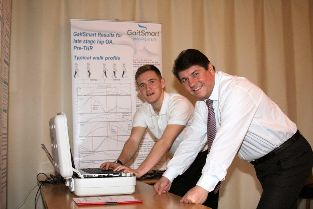 Stephen Metcalfe MP with Sam Clarke, GaitSmart Gait Therapist